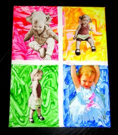 babi pictur, pop art, diy crafts, fathers day gifts, andi warhol, baby pictures, avid adrienn, warhol pop, andy warhol