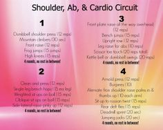 Shoulder, Abs, and Cardio Circuit