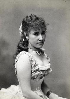"Bianca Bianchi as Violetta Valery in ""La Traviata"" by Giuseppe Verdi, sometime after 1880.."