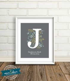 Cyber Monday Wedding Monogram - New Baby Gifts : Personalized Art Print - 8x10 / Baby Shower Present - Bridal Shower Gift - Baby Name on Etsy, $31.21 AUD