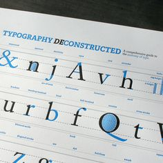 Cool typography letterpress poster. Would be great in my office!