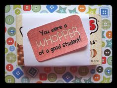 goodby gift, students, gift ideas, student teacher gifts, tutor hous