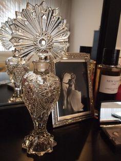 stunning vintage perfume decanter
