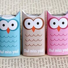 Owl Miss You Candy Wrapper {free printable}