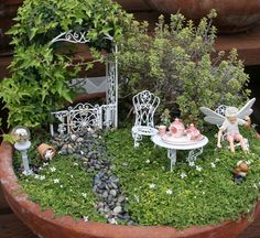 Fairy Garden Ideas | ... link for Part I gallery of fairy garden photos. Thanks for looking