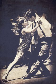 From the Soul, tango dancers in Buenos Aires, black and white photo, interior art, 12 x 18 inch print.