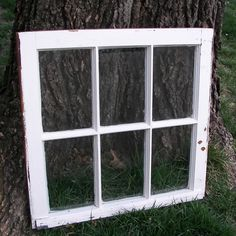 vintage window frame - wall art?
