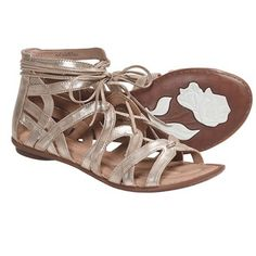 Crown by Born Grammercy Gladiator Sandals - Leather (For Women) in Gold Metallic