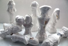 Chess piece  The Pawn from English fine bone china by madebymanos, on Etsy