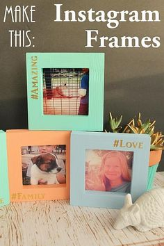 DecoArt Blog - Project - Instagram Photo Frames created using my Silhouette and gold foil