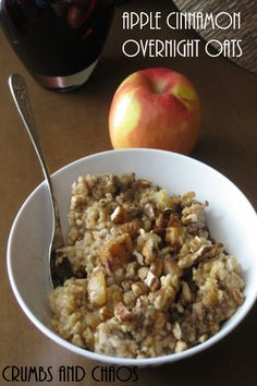 Steel Cut Apple Cinnamon Oats | Crumbs and Chaos  #crockpot #oatmeal #breakfast   www.crumbsandchaos.net    - this was really good, a winner. will do again.    Another thought:  throw 2 sliced apples, 1/3 cup brown sugar, 1 tsp cinnamon in the bottom of the crock pot. Pour 2 cups of oatmeal and 4 cups of water on top. Do NOT stir. Cook overnight for 8 - 9 hours on low.
