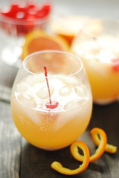 Orange Swizzle - a delicious non-alcoholic summer drink | www.somethingswanky.com