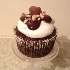 Rocky road cupcake. Chocolate cupcake with a chocolate ganache filling ...