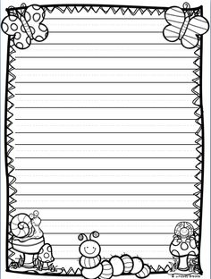 Perfect Writing Paper Template With Borders And Printable Writing Paper With Border