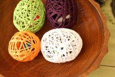 easter yarn eggs.