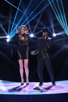 "A duet made in heaven. Celine Dion and Ne-Yo perform ""Incredible"" on ""The Voice"" on Dec. 17 in Los Angeles"