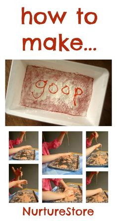 How to make goop recipe, plus messy play ideas (also know as oobleck!)