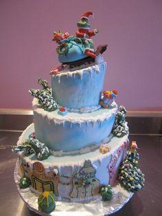 grinch cake