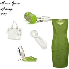 """Lime Green spring 2013"" by ahkriti on Polyvore"