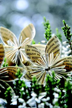 tutorials, kusudama flower, crafti christma, tutori flower, paper flowers, flower tutorial, diy, shabbi soul, old books