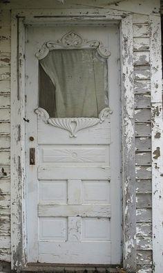chippy white door...