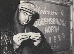 Nasir Jones before he had his tooth remade! listen to illmatic back and forth to and fro all day long on and on!