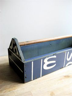 Vintage Long Toolbox by lovintagefinds on Etsy, $155.00
