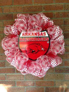 Arkansas Razorbacks Wreath on Etsy, $45.00