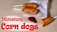 Miniature Corn Dog - Polymer Clay Tutorial