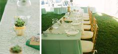 DIY tablescapes in backyard wedding