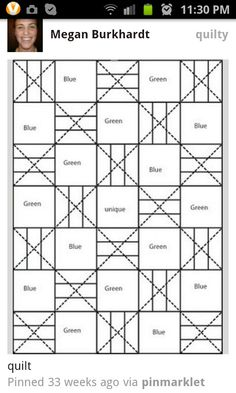 Quilt pattern--could be a good I Spy pattern
