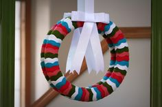 a bit of sunshine: scalloped felt wreath