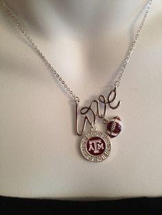 Texas Aggie necklace