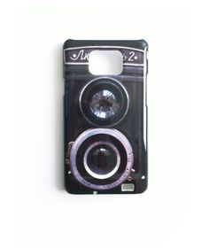 SALE: Vintage Camera Samsung Galaxy S2 Case. Whimsy Gadget Accessory. Geekery Unisex Christmas gift for men, Black Twin Reflex Camera