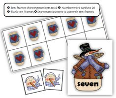 Math Coach's Corner: Happy Holidays with FREE Winter Ten-Frames.  Ten-frames are great for building the critical benchmarks of 5, 10, and 20.  Grab this free winter-themed set with number word cards.