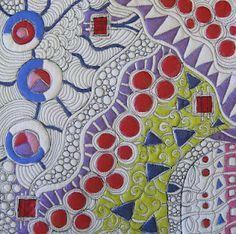 zentangl, artist jami, beauti quilt, paint, sketchbook idea