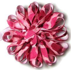 How To Make Grosgrain Ribbon Daisy Flower Using Knifty Knitter
