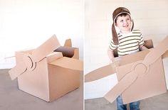 For high-flyers: Cardboard airplane DIY.