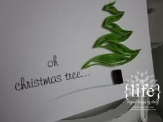 paper {life}: ~ quilled christmas tree #2