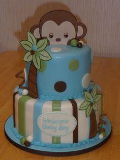 Baby ideas on pinterest 70 pins - Baby shower cakes monkey theme ...