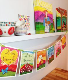 I AM Prayer Flags by LoriPortka on Etsy. I would love to have a set of these in my home! #inspire #love #selflove