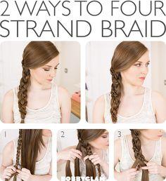 two ways to four strand braid