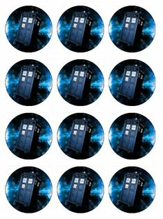 Dr who birthday party ideas Doctor Who Tardis Cupcake Toppers EDIBLE IMAGE For birthday party : Other Products : Everything Else birthday parties, doctor who, parti ideasgift, gavin birthday