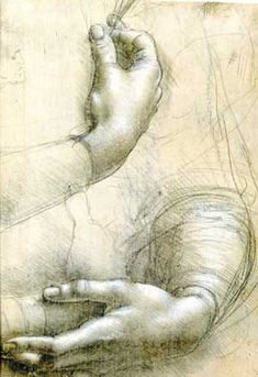 Leonardo da Vinci, study of hands