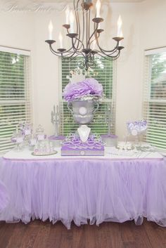 tulle table skirts - for Holly
