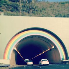 rainbow tunnel leaving san francisco...I used to love this as a kid :)