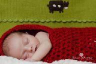 Crochet baby cocoon.
