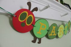 party banners, hungry caterpillar birthday, birthday banners, hungry caterpillar party, caterpillar banner