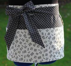 Vendor Apron Craft Apron or Teacher Apron in Black by PunkiePies