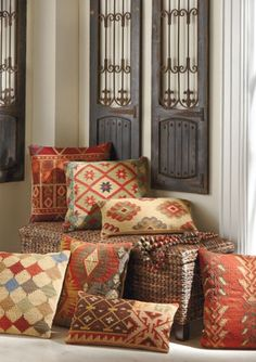 Exciting patterns and rich colors make any room stand out.
